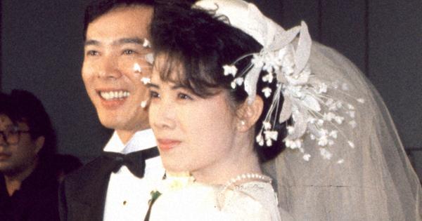 結婚時の森進一