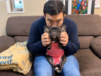 ウルフアロンの愛犬オレオ