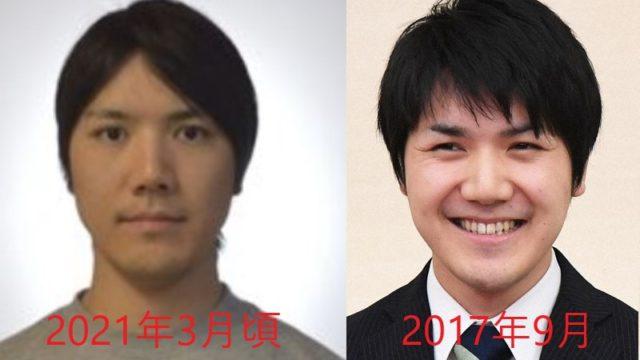 小室圭の髪型の変化