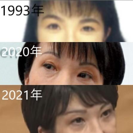 高市早苗の眉毛の変化